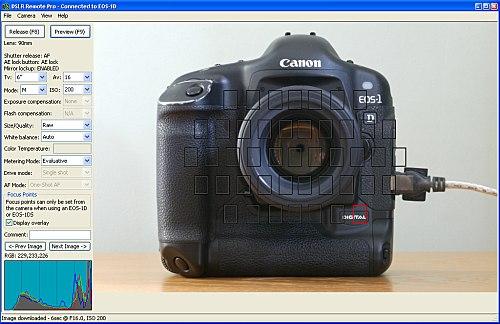 DSLR Remote Pro - Remote Control Operation Canon EOS-1D, EOS-1DS