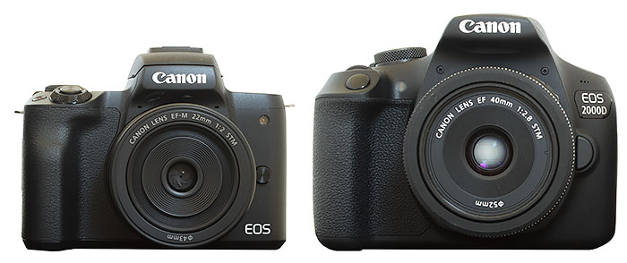 Canon EOS M50 and EOS 2000D/Rebel T7